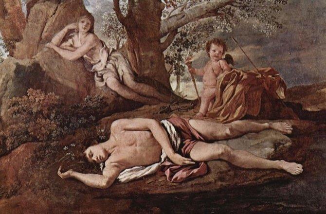 ECO Y NARCISO -pintura - Museo de Louvre Francia