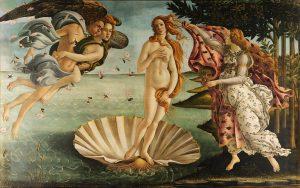 Botticelli: El Nacimiento de Venus -  MIto griego- New