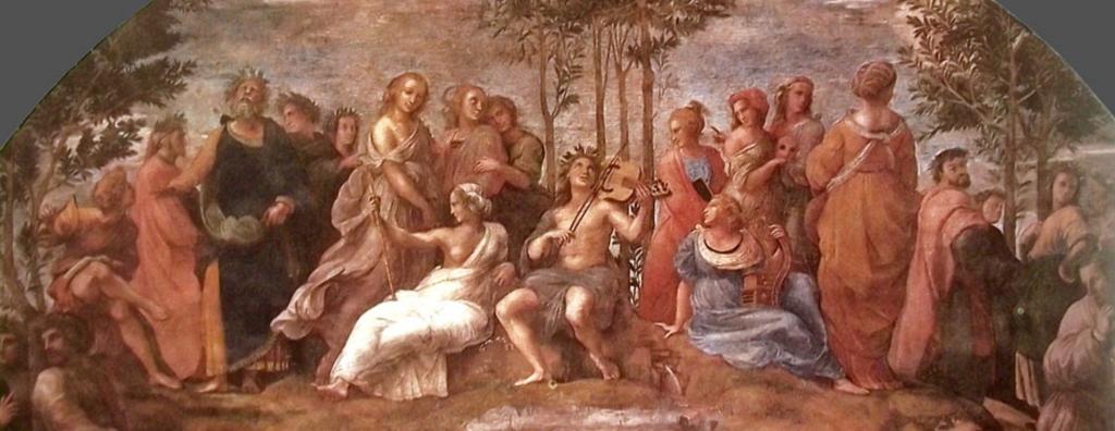 Apolo y las Musas. Mito, pintura