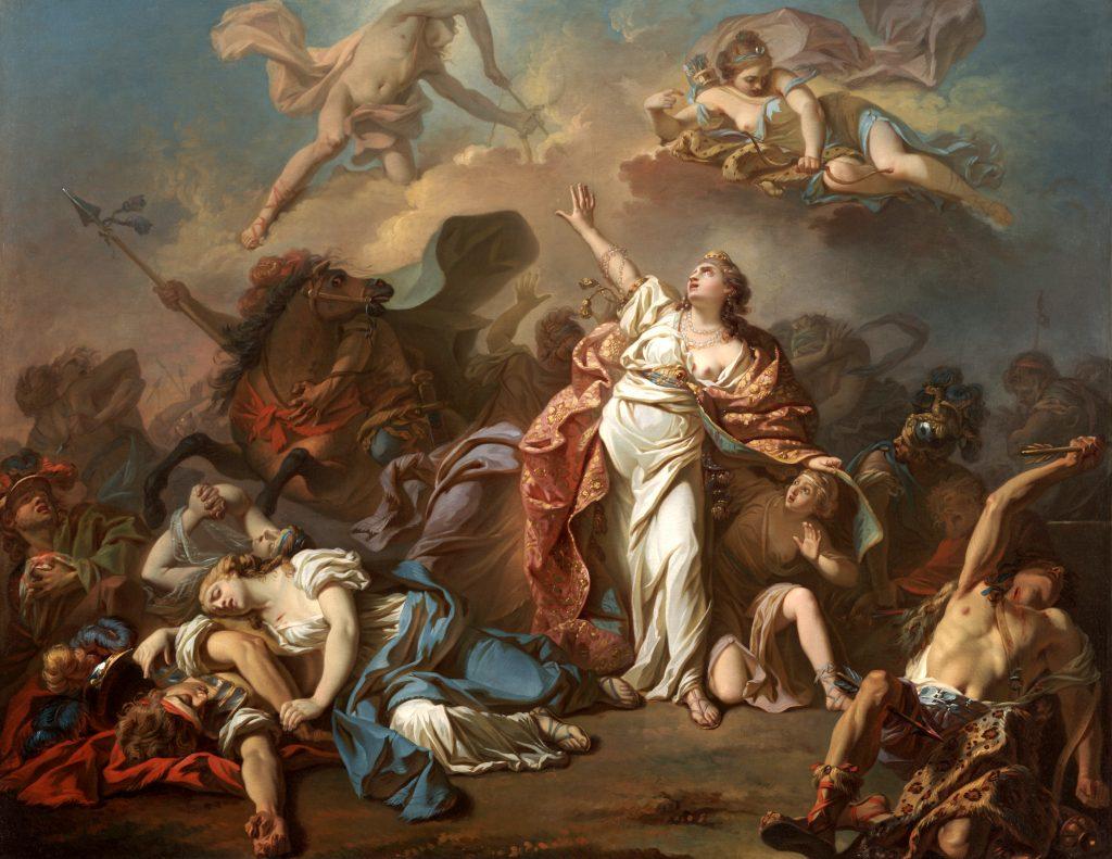Apolo Artemis y Níobe