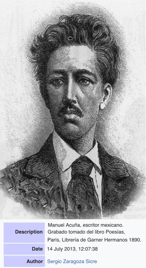 Manuel Acuña - Poeta mexicano