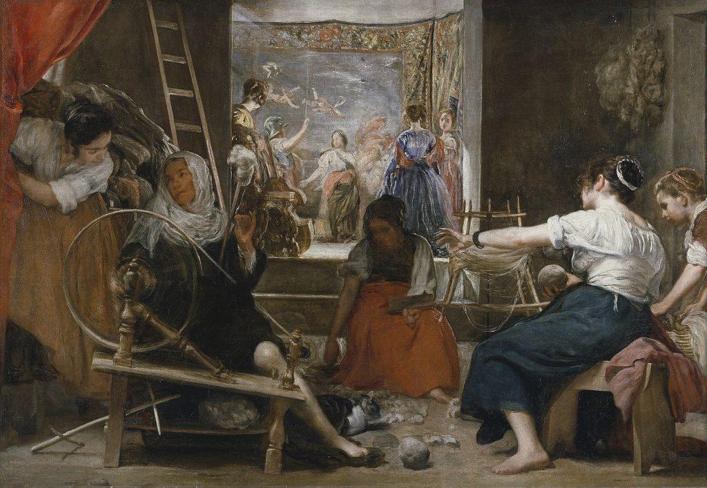 Velázquez: Las hilanderas (Aracne mito)