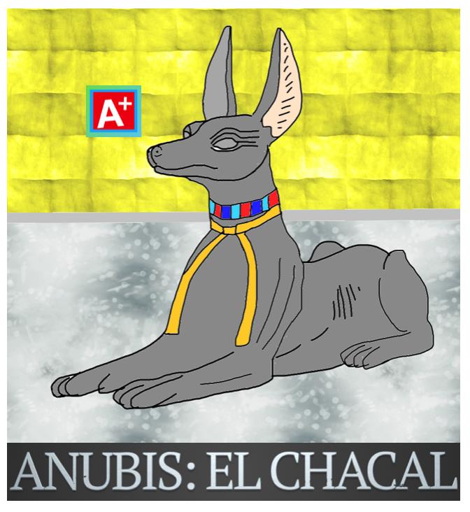 DIOS ANUBIS COMO CHACAL