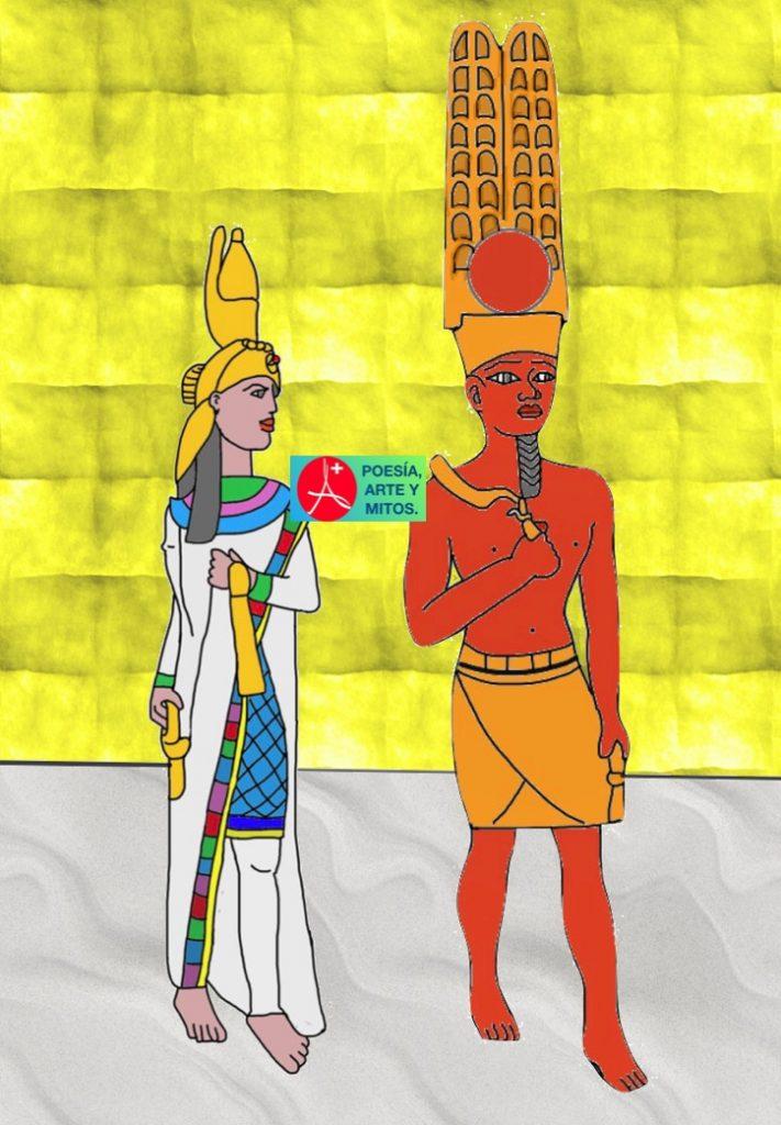 DIOSA MUT Y DIOS AMÓN, EGIPTO