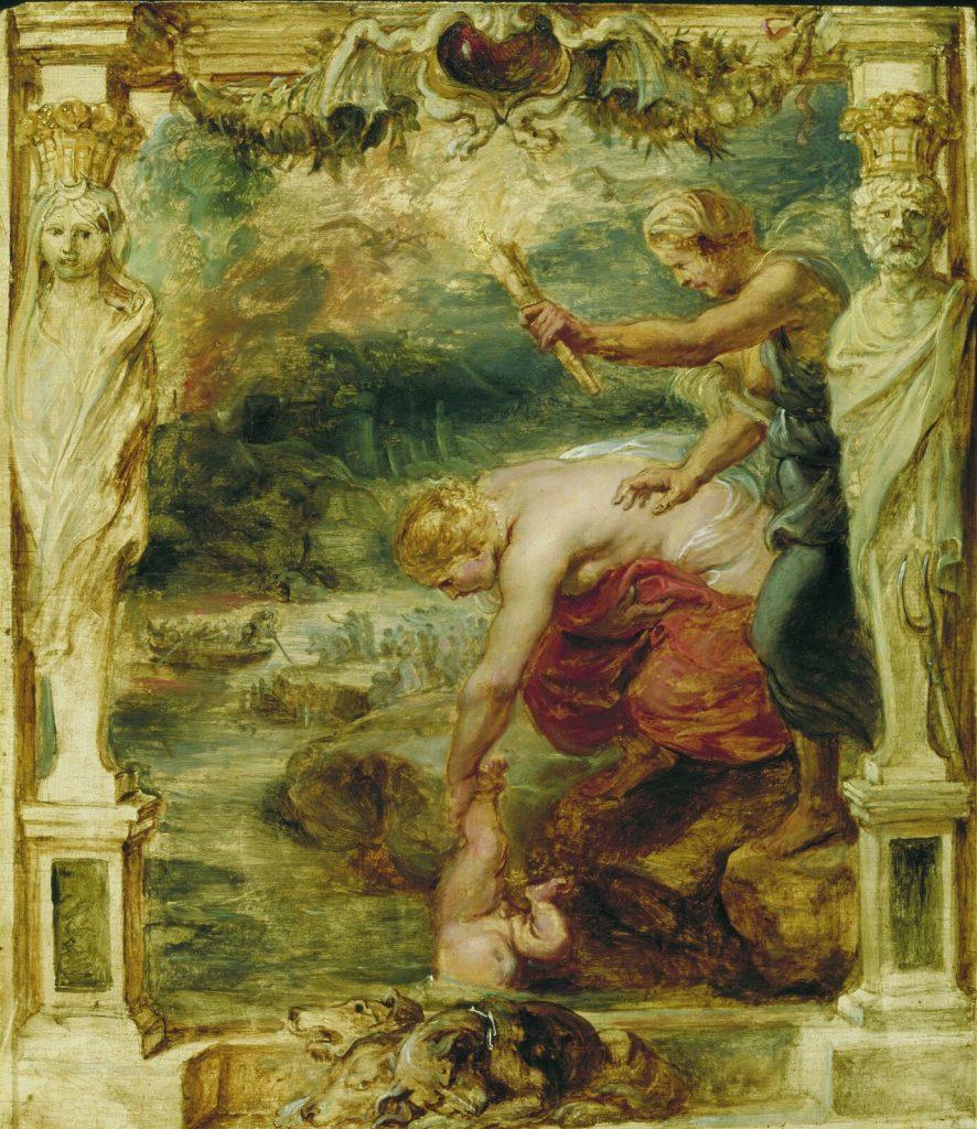 Tetis hunde a Aquiles en la laguna Estigia.