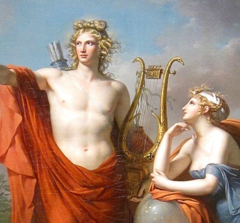 El dios Apolo y Urania