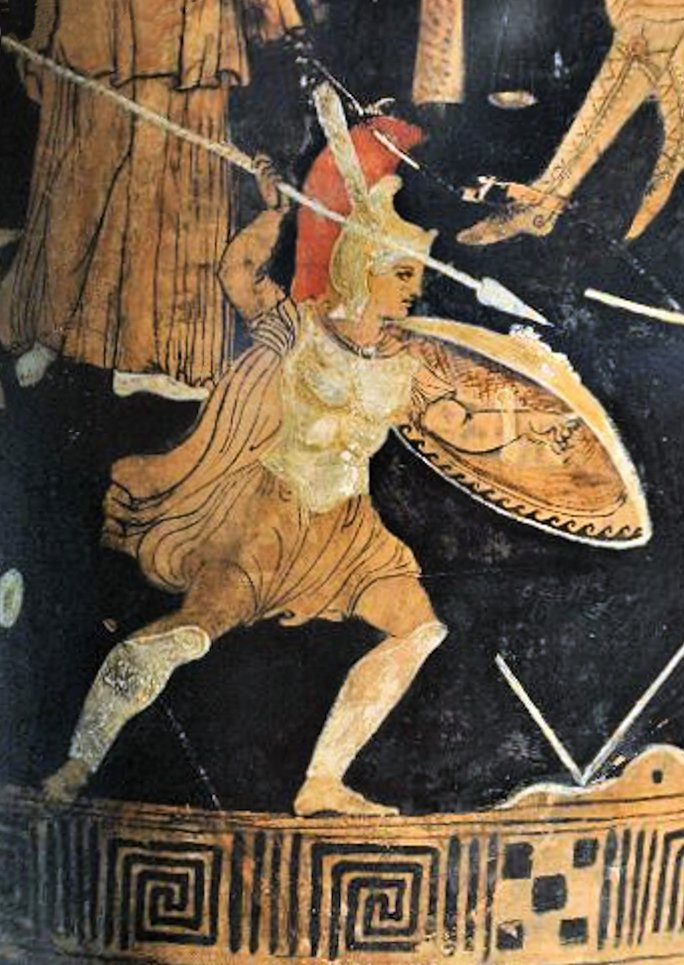 Aquiles contra Memnón