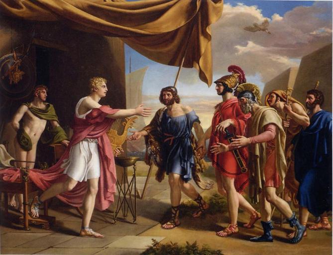 Aquiles y Agamenón.