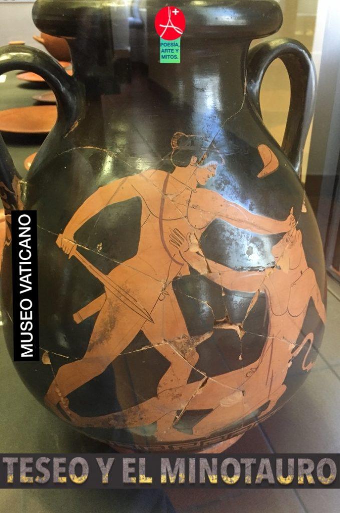 MITO DE TESEO Y EL MINOTAURO. MUSEO VATICANO-ROMA