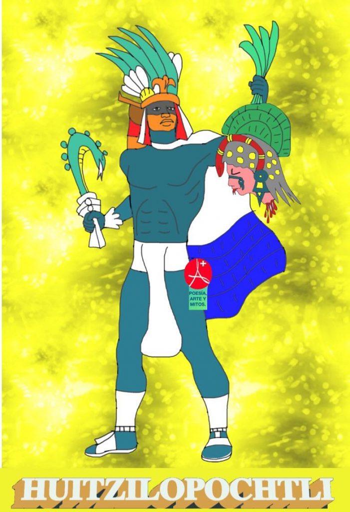 HUITZILOPOCHTLI Y LA COYOLXAUHQUI. Mito azteca - mixteca. Dios de la guerra.