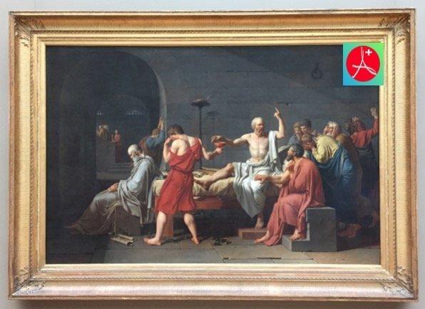 MUERTE DE SÓCRATES. Filosofía, pintura del MET