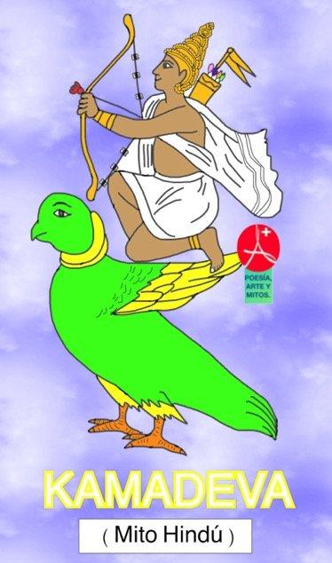 KAMADEVA. Dios del amor. Mito Hindu.