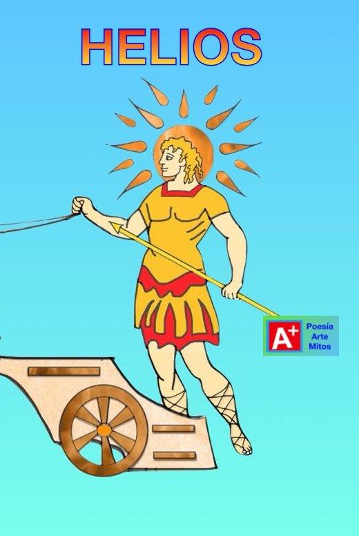 Mito griego Dios Helios y Faetón.
