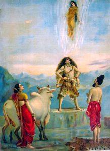Diosa Ganga y Dios Shiva- mito Hindu - India