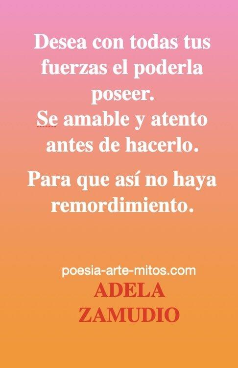 POESIA DE ADELA ZAMUDIO