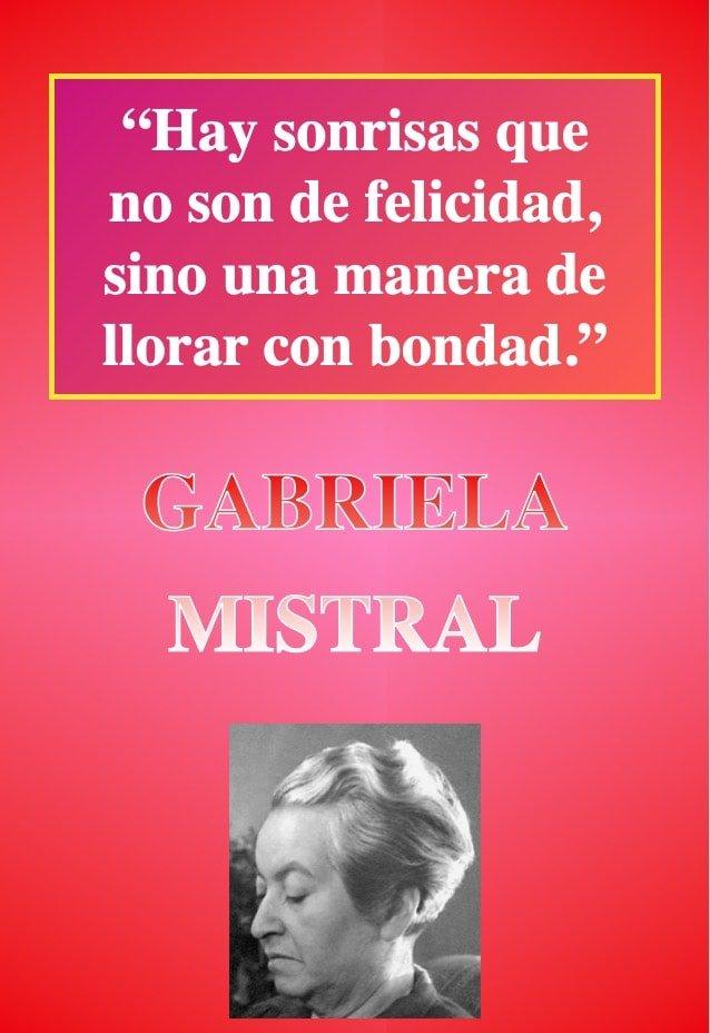 Hay sonrisas alegria - Frasses reflexion - Poeta GABRIELA MISTRAL-min