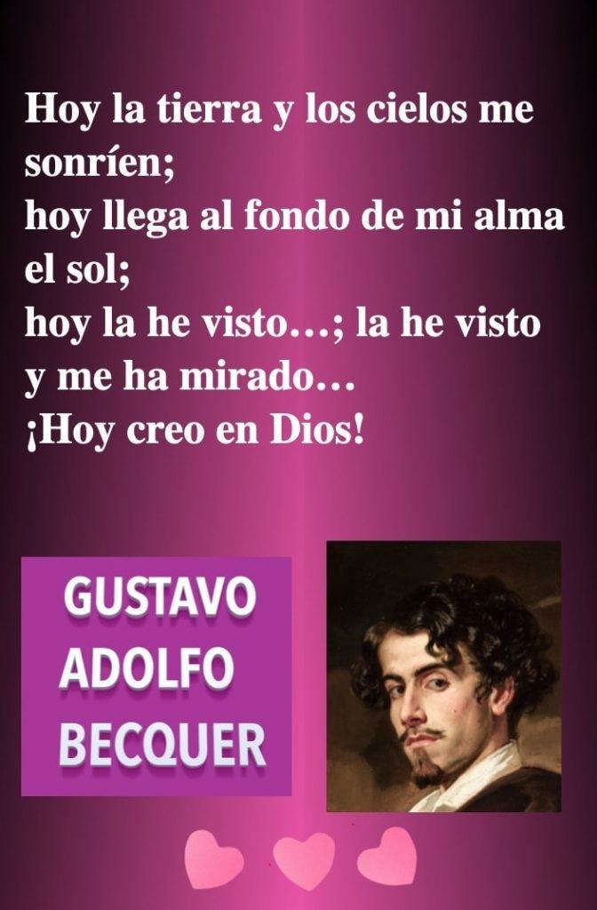 Tierra cielos Dios - Poeta espanol Gustavo Adolfo Becquer