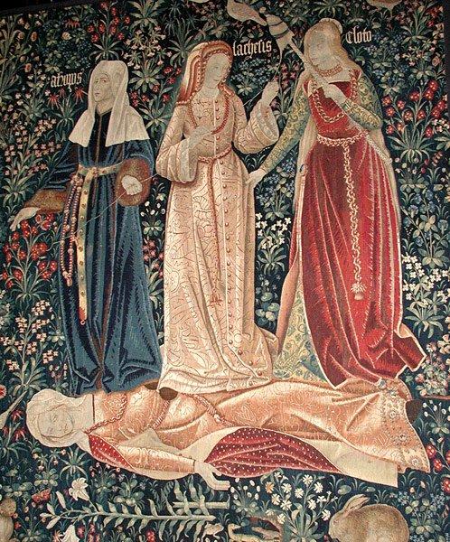 Tres Moiras - Destino-mito griego