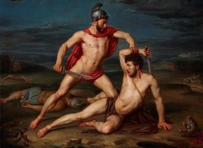 Aquiles y Hector -Mito griego - Talon Aquiles