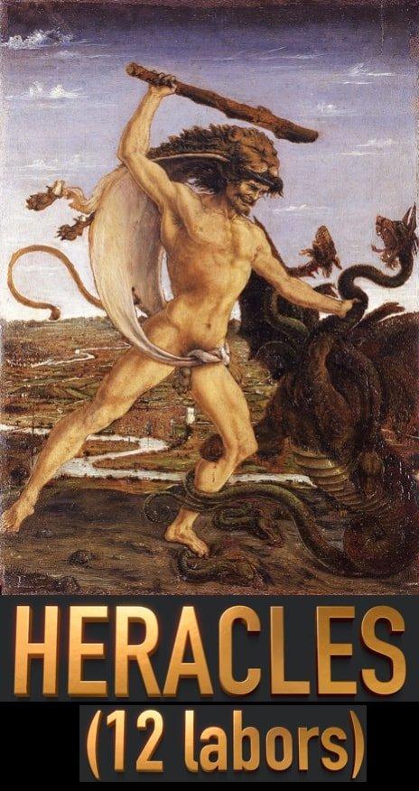 Hercules y la Hidra - mito - los 12 trabajos
