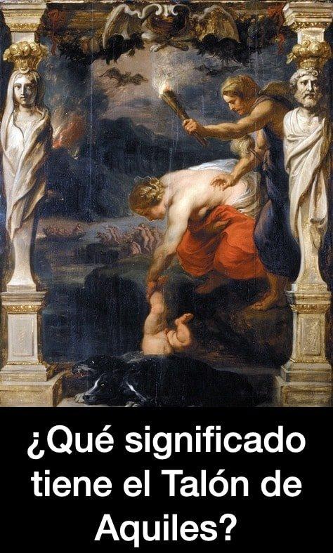 Nacimiento de Aquiles -Mito griego - Talon Aquiles