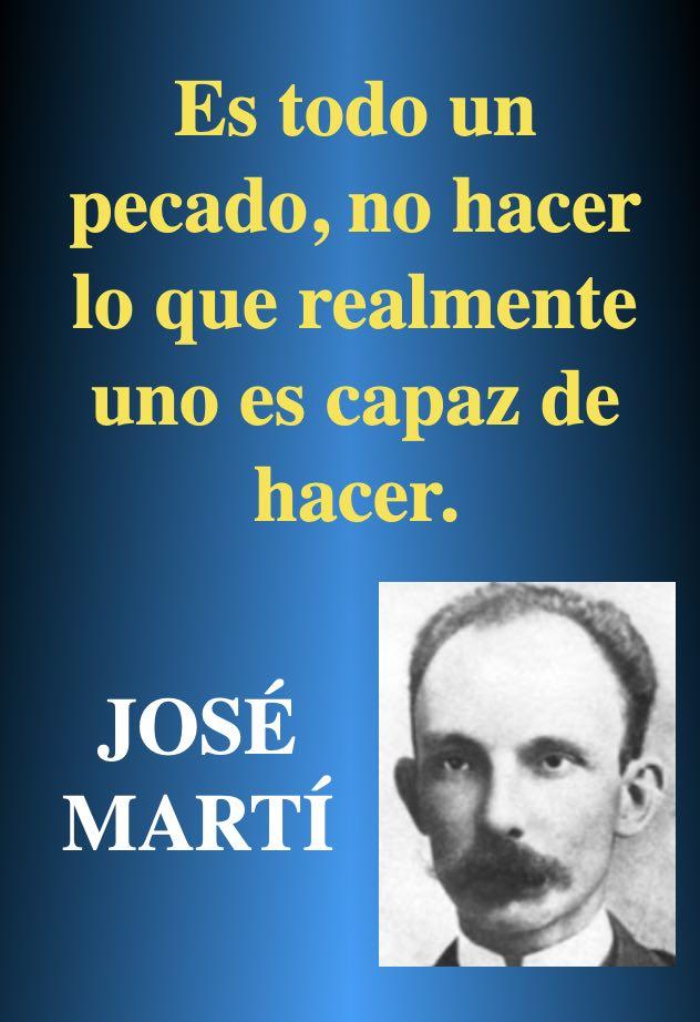 Pecado - frases pensar reflexionar - Poeta Jose Marti