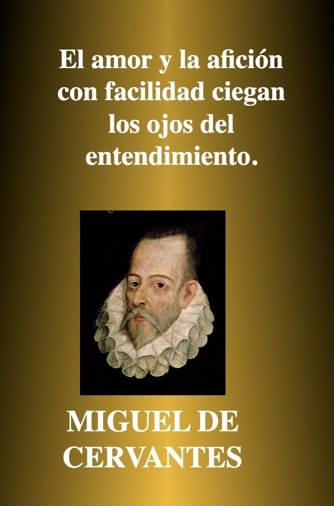 amor y aficion - Frases de amor - Miguel de Cervantes