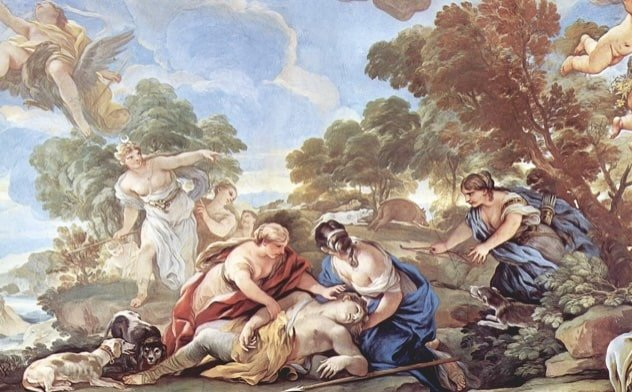 Muerte de Adonis- Mito griego de ADONIS