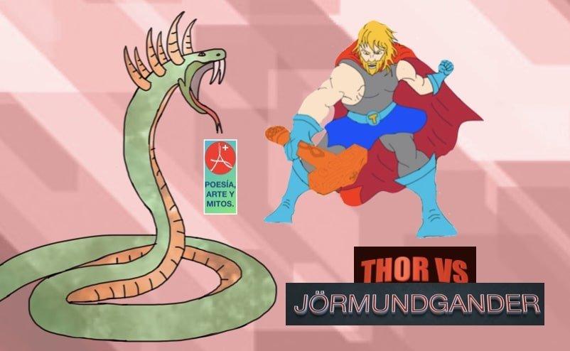 THOR VS SERPENT JÖRMUNDGANDER - Mito de Loki